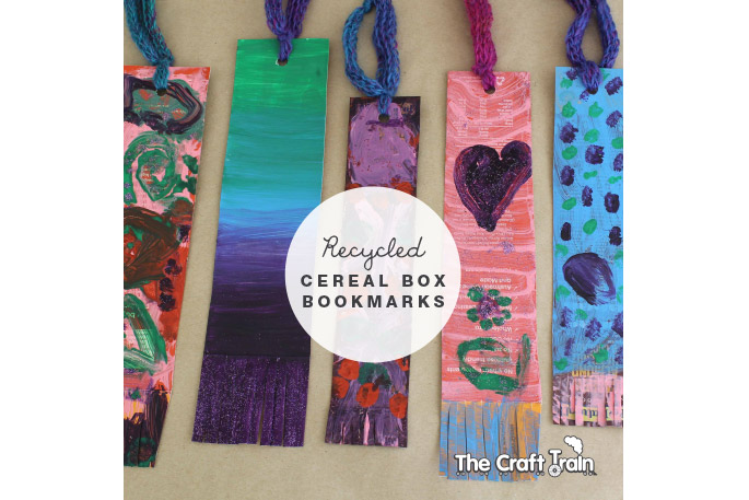 Cereal Box Bookmarks