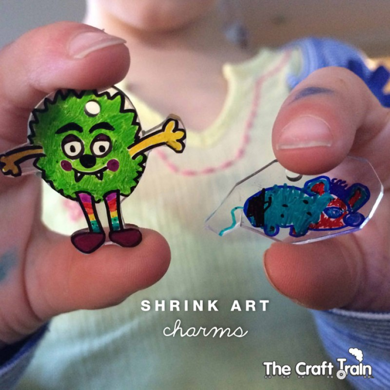 Shrink art charms