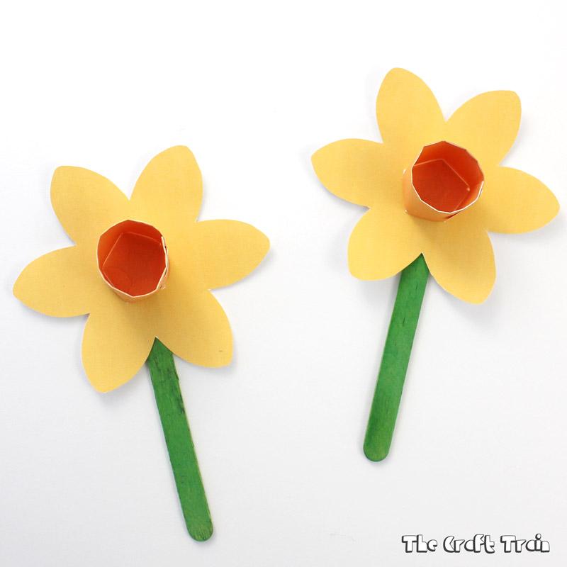 Printable paper daffodils