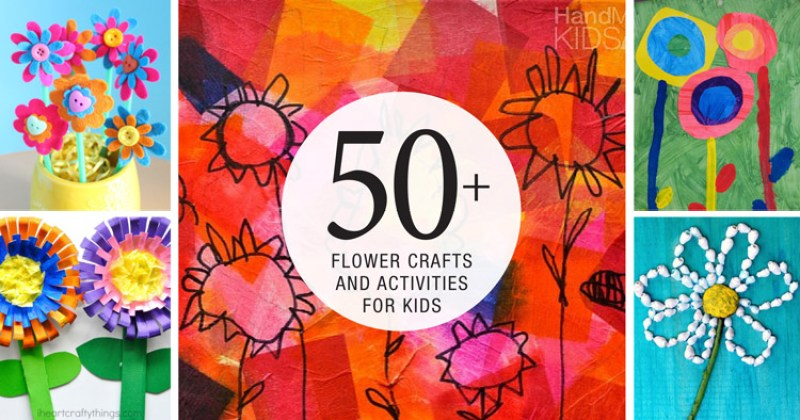50 colourful flower crafts for kids