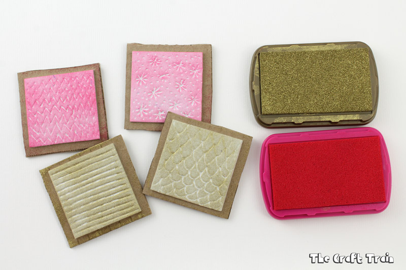 DIY textured foam stamps