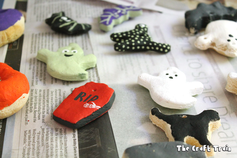 Halloween decorations from salt dough