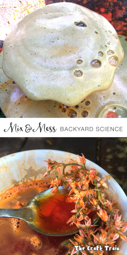 mix and mess backyard science play