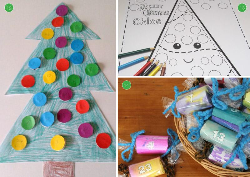 kid made advent calendars