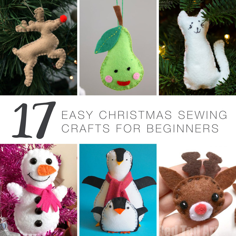 17 Easy Christmas sewing crafts for beginners