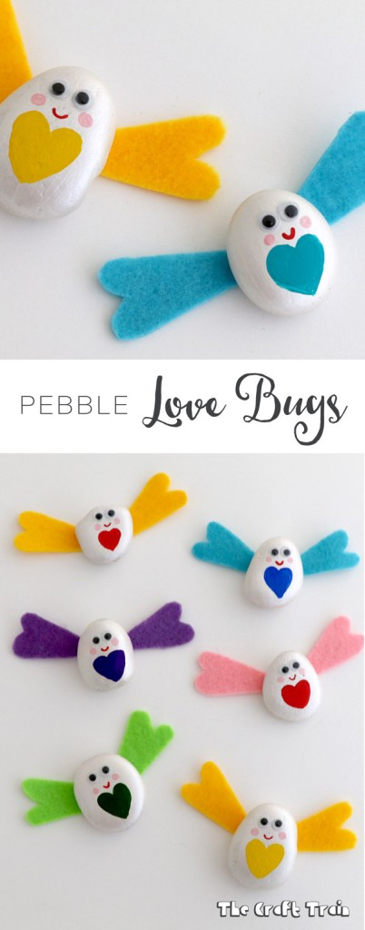 Pebble love bugs, a simple Valentines day craft