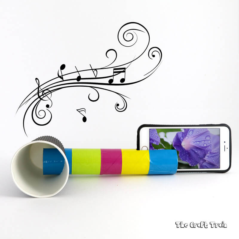 Create a DIY iPhone speaker from a cardboard tube and paper cup that really works!
