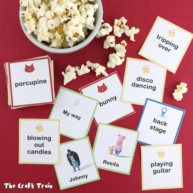 Free printable SING charades cards