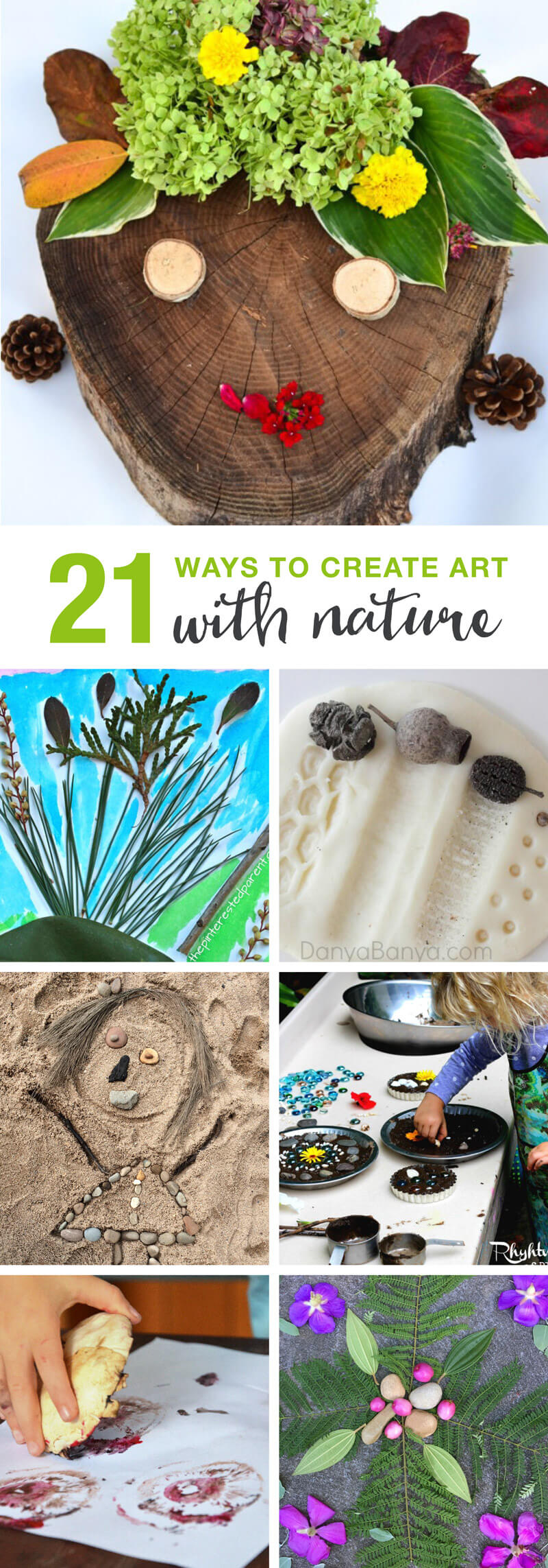 21 ways for kids to create art using nature