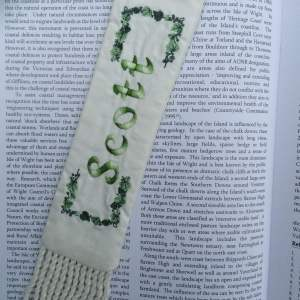 Ancestors Bookmark with embroidered family names and dates