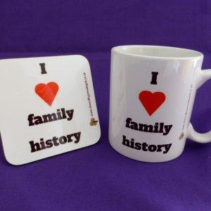 I love family history mug and coaster gift set