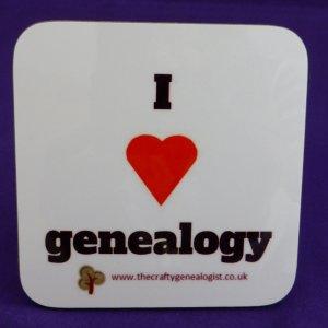 I love genealogy coaster