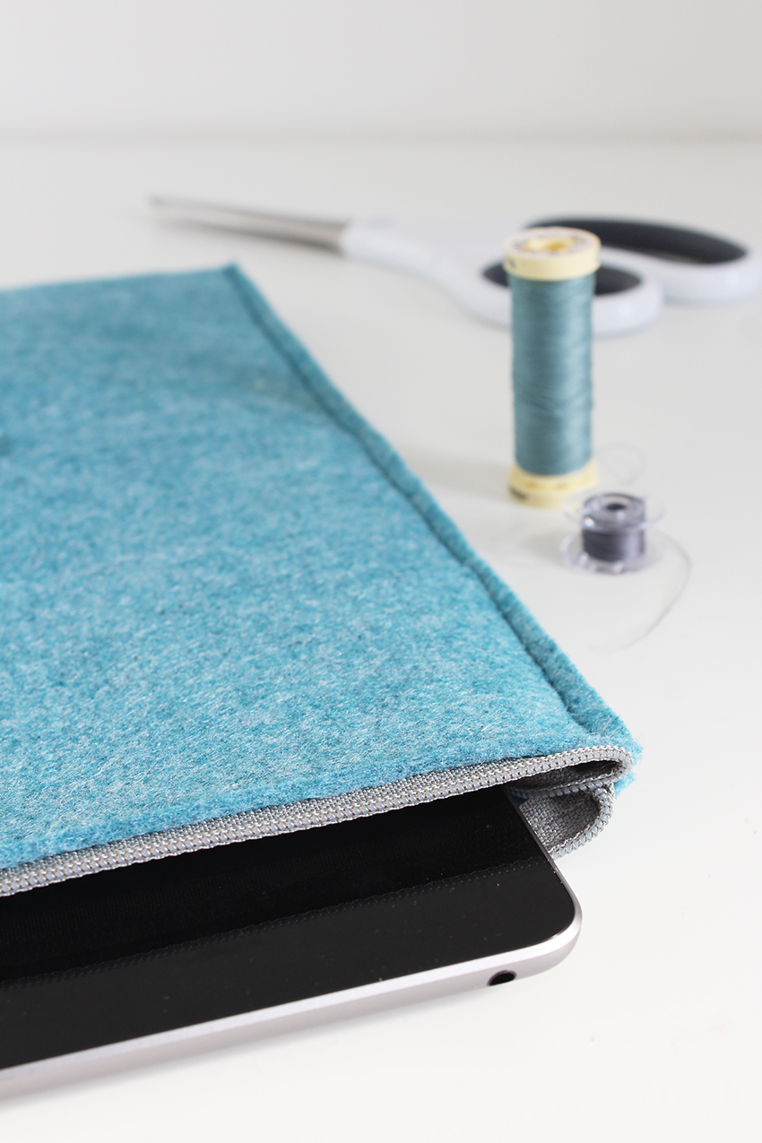 Sewing tutorial: DIY felt iPad sleeve