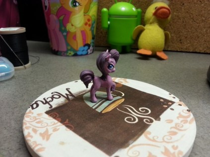 The first pony I painted - I've taken to calling her Epic Pie.