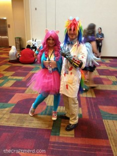 Pinkie Pie and Rainbow Factory Dash - how could I not have a cosplay post without one of us? XD