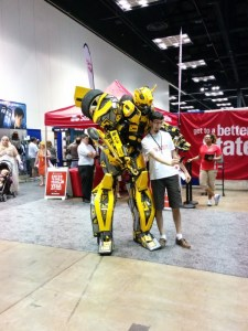 Bumblebee, the most epic cosplay costume I saw at the convention - hands down.