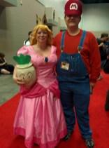 Princess Peach and Super Mario!