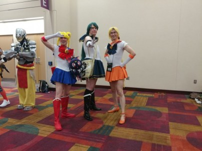 These guys did a great job with their Sailor Moon costumes!