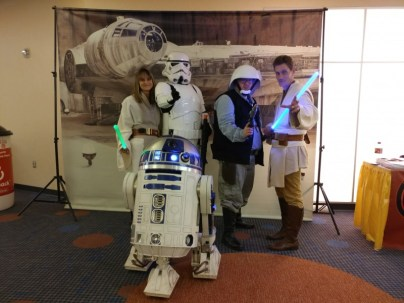 Awesome Star Wars cosplayers.