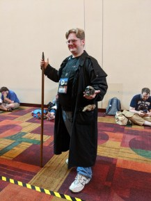 Harry Dresden and Bob from The Dresden Files! Another cosplay I don't see much of.