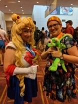 Sailor Moon ran into Miss Frizzle on Saturday! (aka Rachel, of The Five-ish Fangirls Podcast)