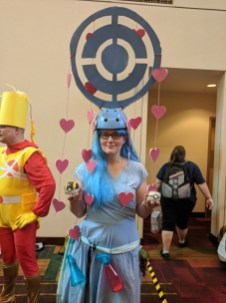 Yes, I even found someone dressed as a Pokestop! Definitely an awesome and unique costume.