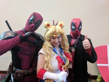 Found some Deadpools while I was hanging out at the cosplay photo area!