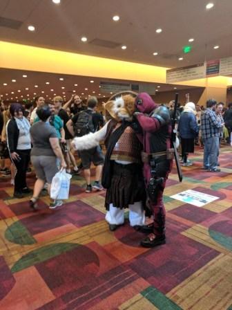 Here's Deadpool with a Samurai Gizmo!