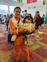 Poe and BB-8! I love BB-8's helmet. :)