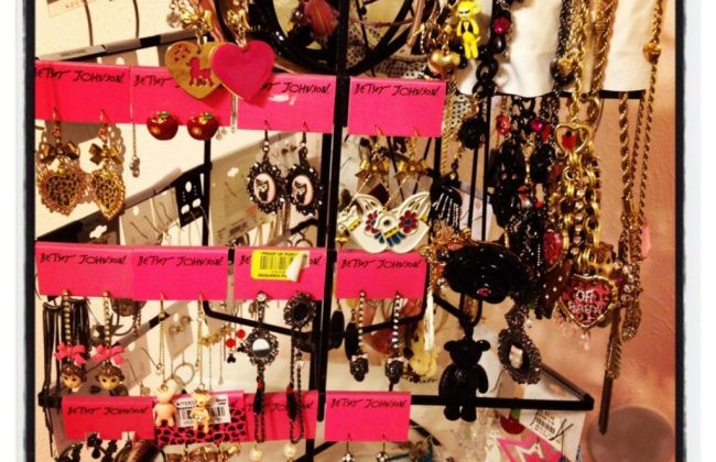 Betsey Johnson earring and necklace jewelry collection