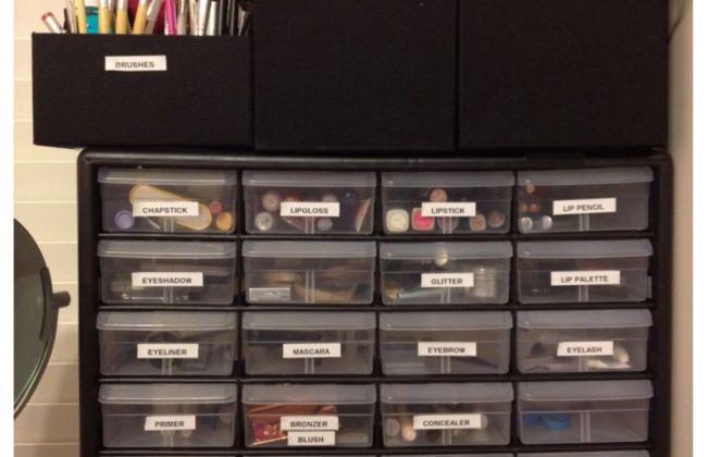 Makeup Storage Shelf Container