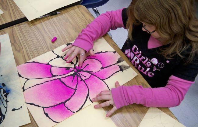 o'keeffe chalk pastel flower