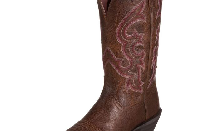 Ariat pink cowboy boot