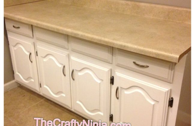 refinished painted cabinet