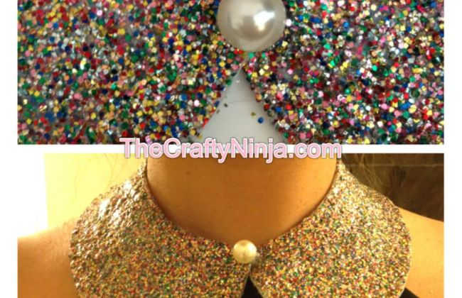 glitter collar diy