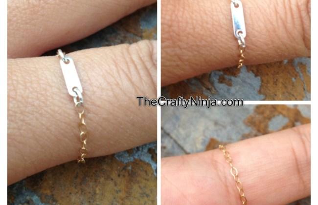 diy dainty chain ring