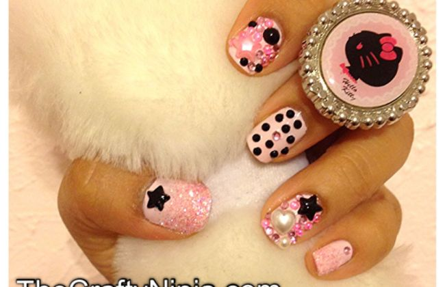 kawaii deco nails