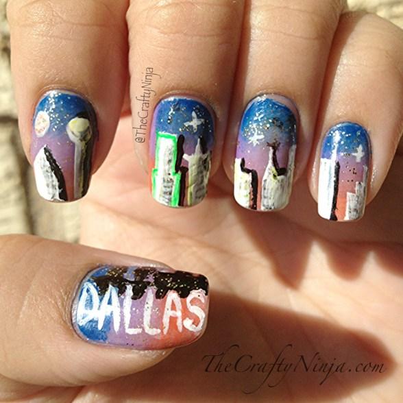 skyline nail art