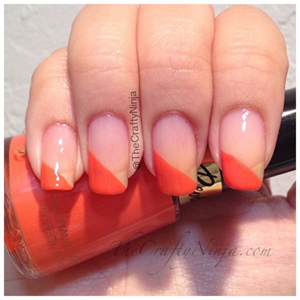 tape orange nails