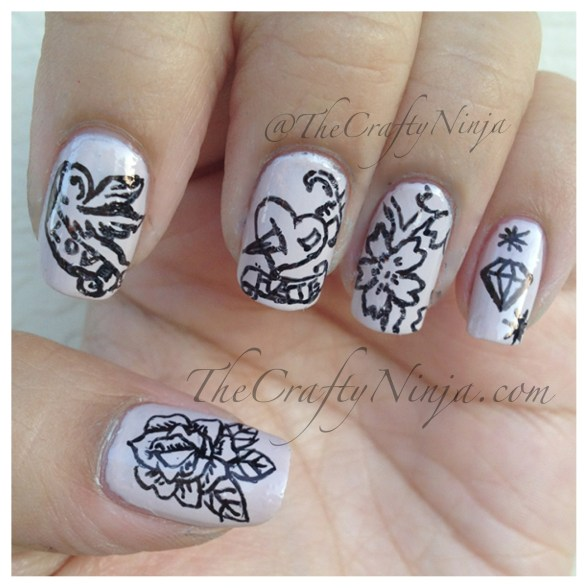 tattoo nail design