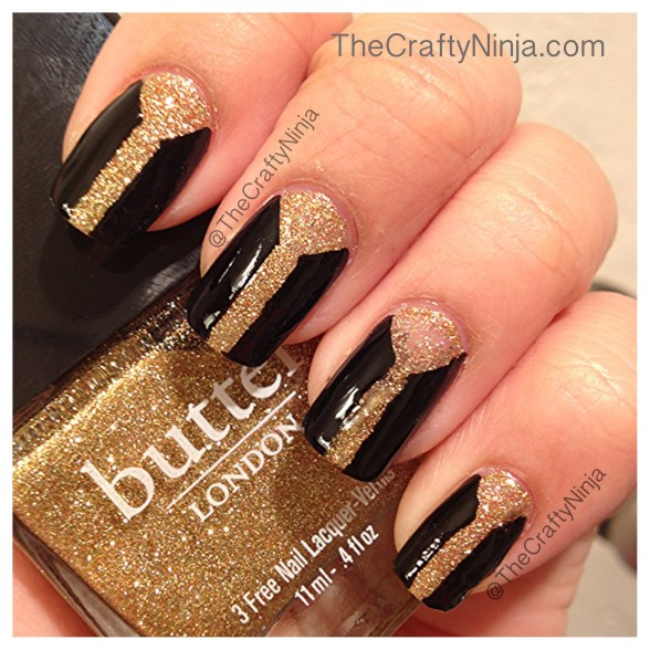 black gold nail tape