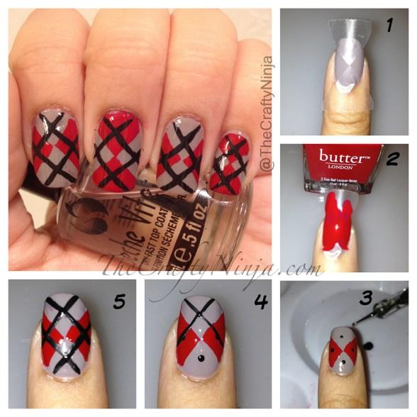 diy argyle nails