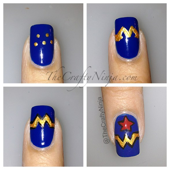 diy wonder women nails