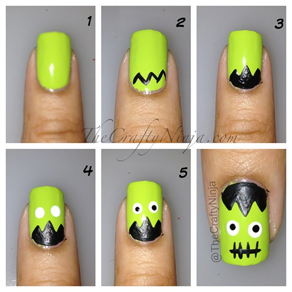 frankenstien nails diy