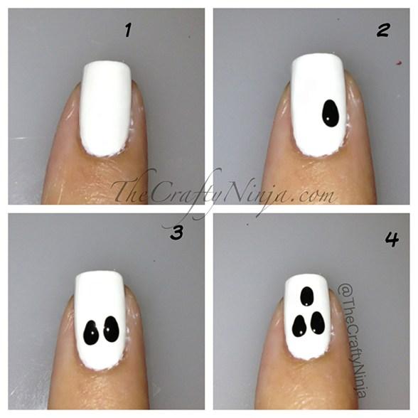 ghost nails diy