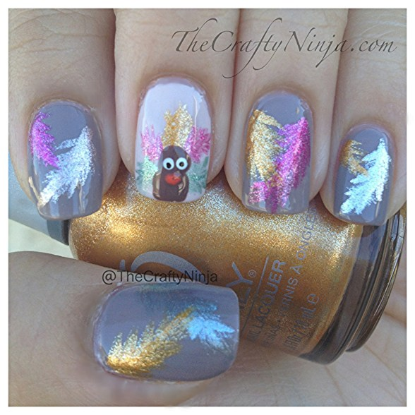 feather turkey nails