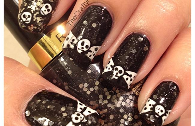 skull bow nails