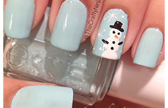 Snowman nails the crafty ninja snow man nails prinsesfo Images