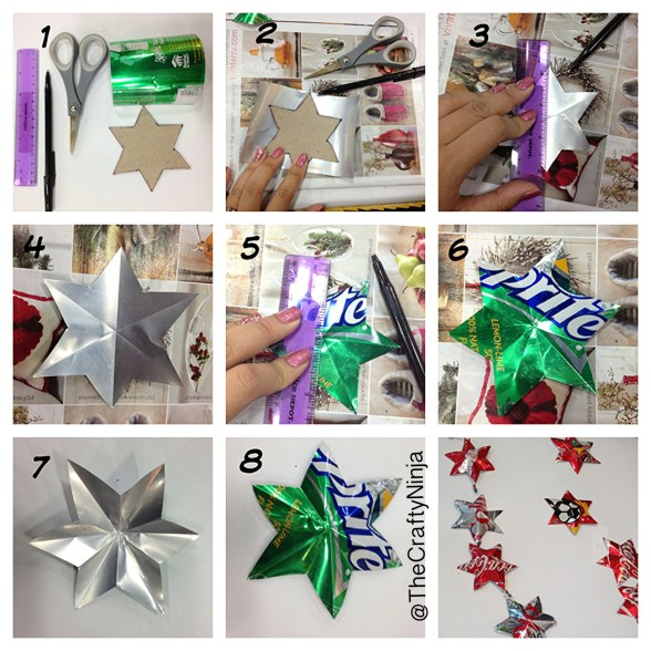 diy aluminum star ornament
