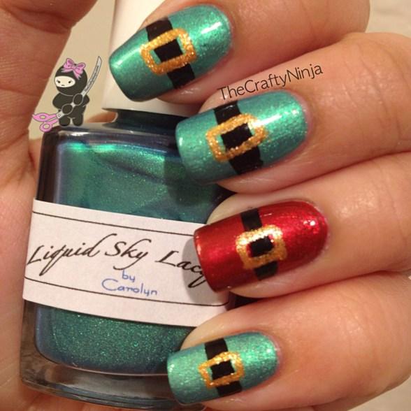 santa elf nails